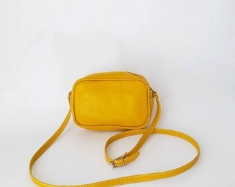Amber Mini Crossbody Faux Leather Bag (Handmade to order)