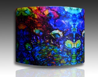 Watercolors  polymer clay cuff