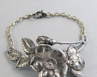 Cherry Blossom Branch Bracelet,Cherry Blossom Cuff,Posey Cuff,Blossom in Handmade,Cherry Blossom,Pansy,Posey Bracelet,Valleygirldesigns