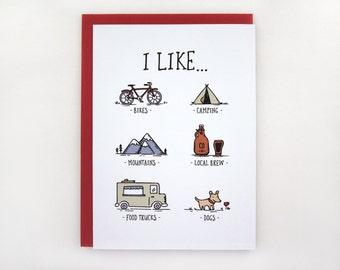 I Like... - Adventure Love Card