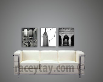 SALE, Black White New York Canvas Wall Art, Travel Gift, Large Canvas Art, Black and White Photography