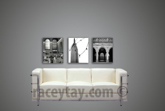 SALE, Black White New York Canvas Wall Art, NYC Art, Large Canvas Art, Office Decor - Black and White Photography