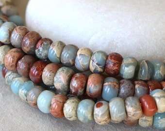 African Opal 4x2mm Rondelle Beads - Jewelry Making Supply - Gemstone Rondelle - Aqua Terra  Beads - Choose Your Amount