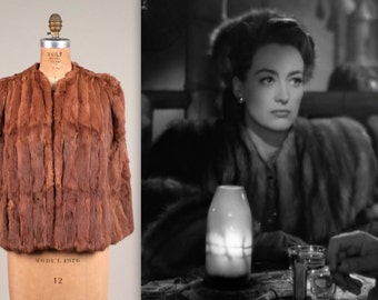 1940s glamorous fur cape • vintage 40s coat • evening coat