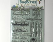 Glad Tidings Holiday Clear Stamp Set BugBites New