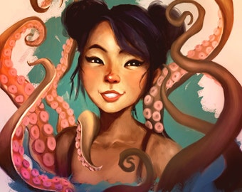 Tentacles Art Illustration Print