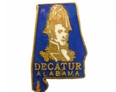 DECATUR ALABAMA lapel cloisonne enamel pin state