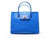 The Brick Bag in blue made entirely of LEGO® bricks FREE SHIPPING lego gift handbag trending fashion
