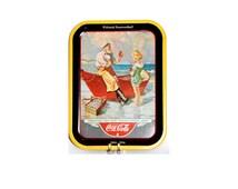 Coca Cola Collectibles Tray Metal Tray Collectible 1936 Sea Captain 1987 Fiftieth Anniversary