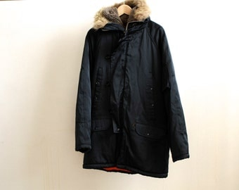 AVIATOR large hooded PARKA fur hood jacket
