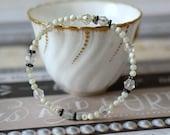 White Mother of Pearl Bracelet Ivory Memory Wire White Bracelet Stack Wrap Boho Bridal Rustic Wedding Valentine Gift