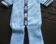 Onesie Christmas Stocking - Gingerbread Men with brown and gold trim -- FREE SHIPPING