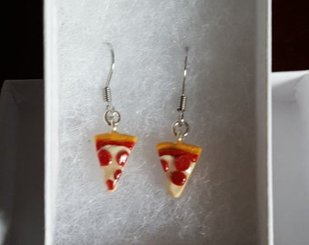 Tiny Pizza, Delicious Food Earrings
