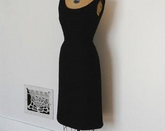 Vintage 50s Dress - 1950s Wool Dress - The Carlie