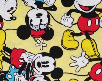 Fabric BTY Mickey and Minnie Mouse Disney