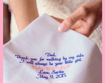 Wedding Gift For Dad Father of the Bride Wedding Present for Dad by Canyon Embroidery