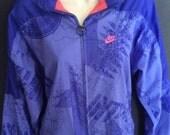 Vintage Nike International Womens Mesh Lined Purple Windbreaker Size Large