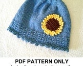 Knit Hat Knitting Pattern - Girls Knit Hat Pattern - the IZZY Hat (Newborn Baby Toddler Child & Adult sizes incl'd)