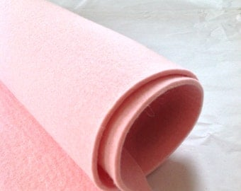 WOOL FELT - Marshmallow Pink - 3mm thick