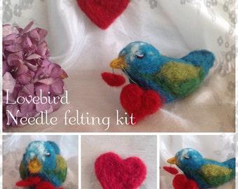 VALENTINE'S LOVEBIRD Needlefelting kit