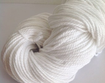 SNOW WHITE - Pure Cotton Yarn 100gr Color 0