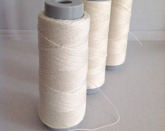 100 % LINEN BINDING THREAD ideal for doll making 2 sizes available