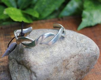 Sterling Silver Twist Vintage  Cuff Bracelet