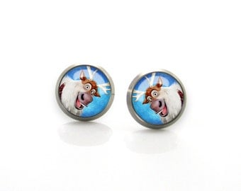 Frozen Sven Disney Titanium Post Earrings | Hypoallergenic Sensitive Stud | Titanium Baby Girls Stud Earrings | Cute Children Earrings #10