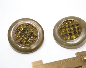 ZEN Vintage Buttons - 1950ss Plastic Buttons - New Old Stock Buttons - 34mm x 4 buttons