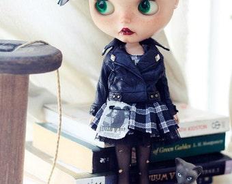 Sugarbabylove - Black jacket set for Blythe