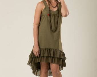 Bohemian Summer Dress - gypsy dress - women's clothing - linen dress