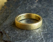 18K Gold Ring - US Size 8 - Yellow Gold Wedding Band -  Ready To Ship