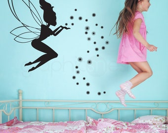 FAIRY & MAGIC DUST wall decals - Interior art decor for girls - nurseries