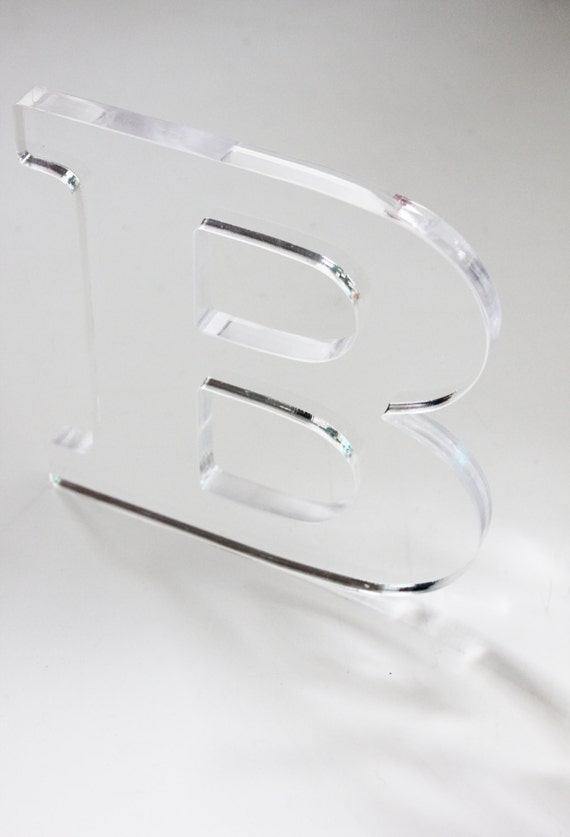 lucite letter acrylic clear diy initial decoration home room decor signs letter modern chic minimalist monogram