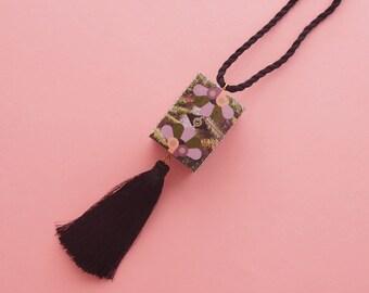 "Geometric Necklace // Tassel necklace // Art Deco Necklace // Tropical Necklace // Statement Necklace // The ""South Beach"""