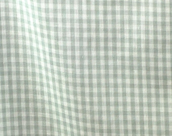Gray White Gingham, Woven Fashion Fabric, Summer Shirting, Lightweight Cotton Polyester, half yard, B8