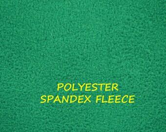 Forest Green, Stretch Fleece, Wide Fashion or Craft Fabric, Heavy Weight, Polyester Spandex, half yard, B23
