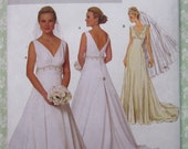 Easy to Sew Misses Fitted, Lined, Floor Length Bridal Dress Sizes 8 10 12 14 UNCUT Butterick Pattern B5462