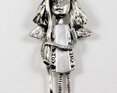 Angel Isabelle Is On A Journey - Sterling And Sterling Silverware Jewelry Pendant - Angel Bird Journey Empowerment Art Jewelry Pendant -2167