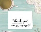 Engagement Thank You Cards - Soon to be Mrs - Engagement Gift - Newly Engaged Gift - Personalized Note Cards - Personalized Stationery