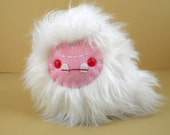 SALE Plush Halloween Ghost Stuffed Animal Creepy Albino Monster Plushie Kawaii Toy Ghoul Small Softie Cuddly Snuggly Faux Fur Weird Plush