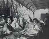 1940's French Photograph - Six Women Sat at a Meal Table