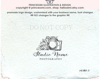 1197-7 photography logo premade logo design doodle camera logo design business logo watermark