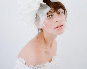 Grand Rose Ivory  Hair Clip Sash Belt Bridal Wedding