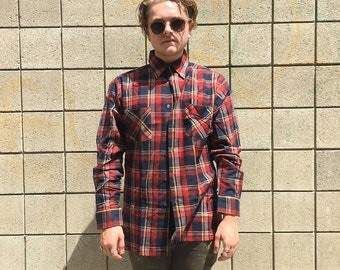 NWT Vintage Dry Goods Saugatuck Plaid Button-up Flannel - Large