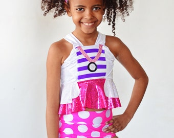Girls Doc McStuffins Inspired Swim Suit