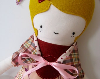 Mod Millicent Girl Fabric Doll