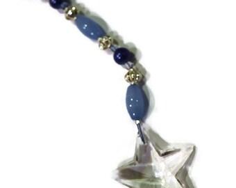 STAR Crystal Sun Catcher 30mm Blue, Indigo, Periwinkle Rainbows