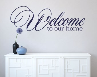 Welcome Wall Decal Etsy - Wall decals entryway