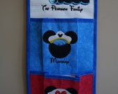 2 Pocket Fish Extender For Your Disney Cruise - Pick Colors, Top & Pocket Designs With Names